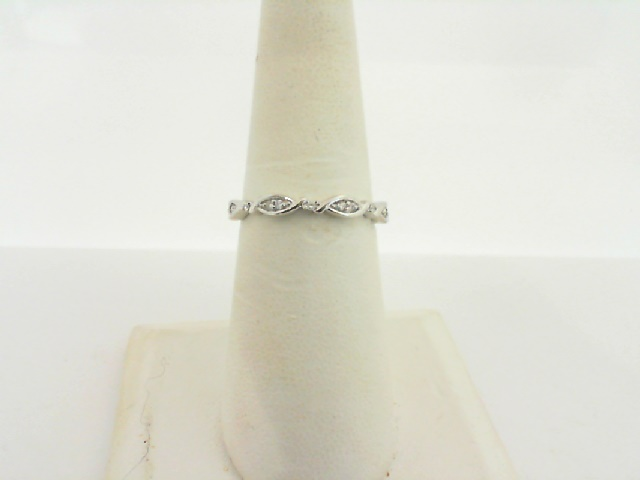 Women's  Wedding Bands - 14k White Gold Diamond Stackable Ring 1/10ctw