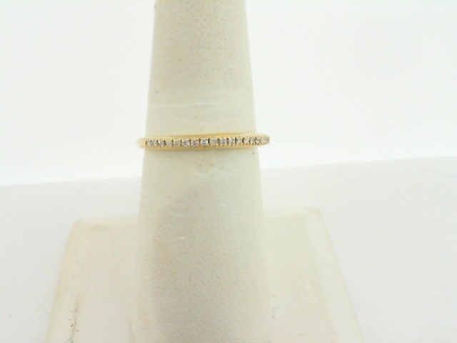 Women's  Wedding Bands - 14k Yellow Gold Diamond Stackable Ring 1/8ctw
