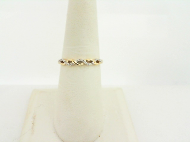 Women's  Wedding Bands - 14k Yellow Gold Diamond Stackable Ring 1/20ctw