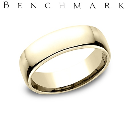 Wedding Band - Gentlemen's 14 karat yellow gold Euro Wedding Band. The ring measures 6.5mm wide is size 9 and weighs 10.1 grams.