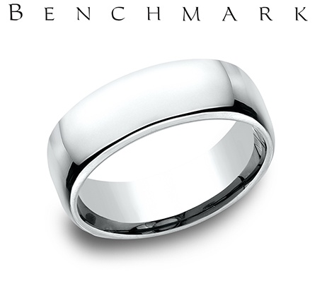Wedding Band - Gentlemen's 14 karat white gold Euro wedding band. The ring measures 7.5mm wide is  size 8 and weighs 11.6 grams.