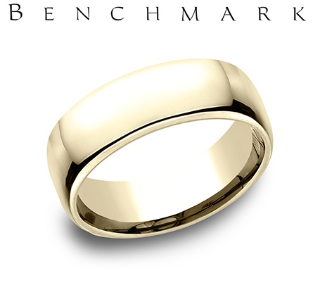 Wedding Band - Gentlemen's 14 karat yellow gold Euro wedding band. The ring measures 7.5mm wide is size 9 and weighs 12 grams.