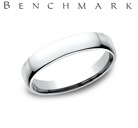 Wedding Band - Gentlemen's 14 karat white gold Euro wedding band. The ring measures 4.5mm wide is size 8 and weighs 6.0 grams.
