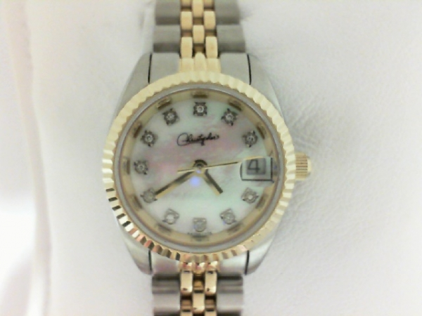 Belair Swiss Wrist Watch - Ladies stainless steel yellow and white