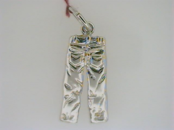 Charm - Ladies sterling silver high polished & detailed pair of blue jeans charm.  This charm is 3/4 inch in length and weighs 2.30 grams.