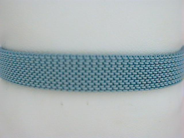 Nautical Bracelet - Ladies blue stainless steel  mesh stretch bracelet.  This 10.00 mm bracelet accommodates clip on charms and weighs 13.70 grams.