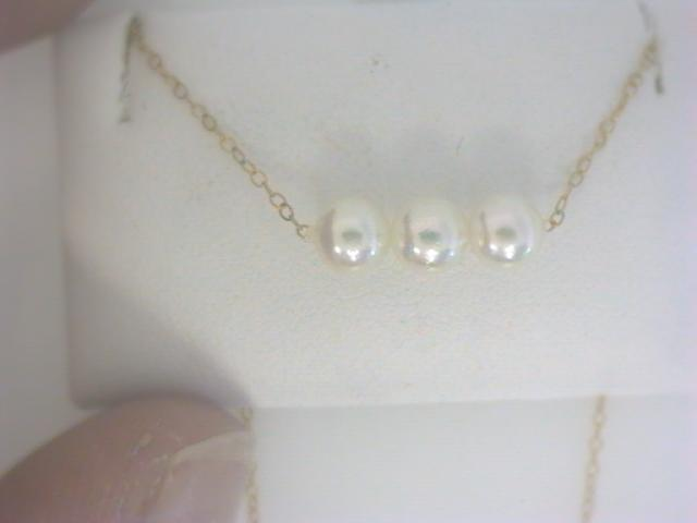 Strand - Lady's Yellow 14 Karat Add A Pearl Strand With 3=4.50Mm Round Pearls