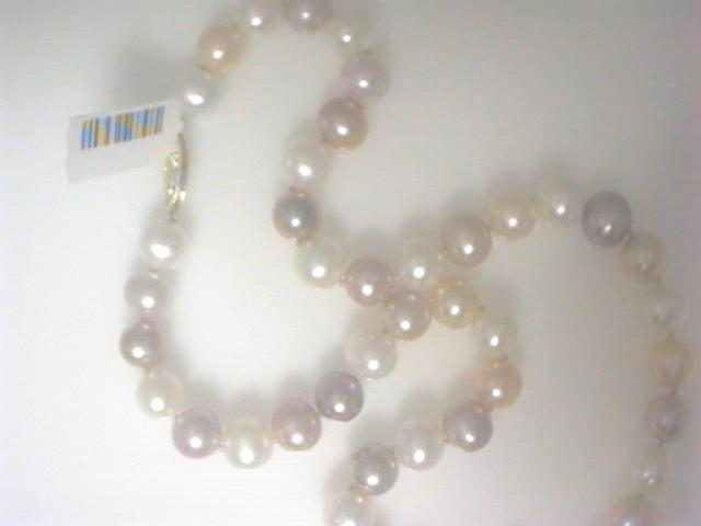 Strand - Lady's Yellow 14 Karat Strand With 45= Multi-Color Fresh Water Pearls