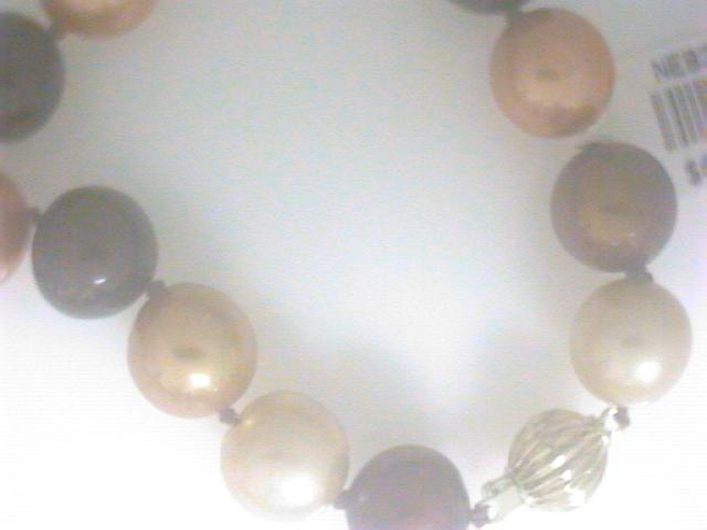 Strand - Lady's Yellow 14 Karat Strand Length 18 With 42=10.00-11.00Mm  Multi Brown Fresh Water Pearls