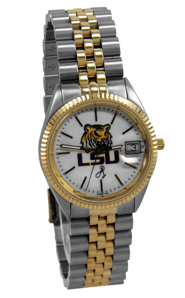 Watches - Two-Tone Stainless Steel LSU White Face Watch