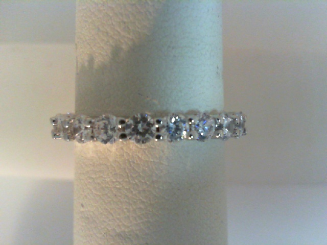 Ring - Sterling Silver Eternity Ring With 20= Round Cubic Zirconiums