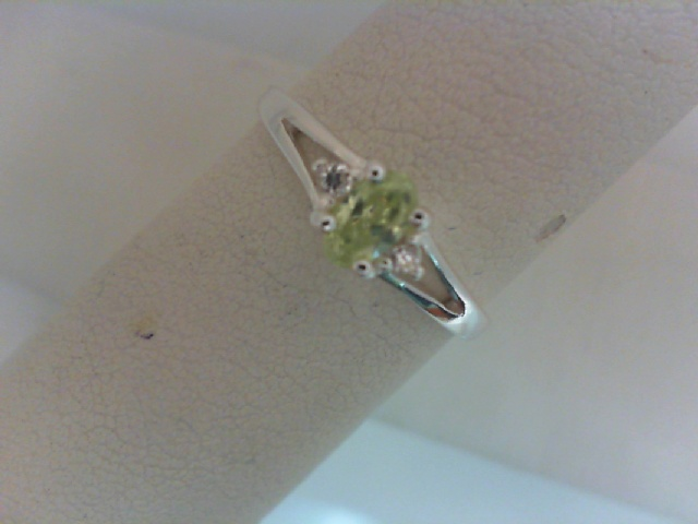 Ring - Sterling Silver August Birthstone Ring Length 6