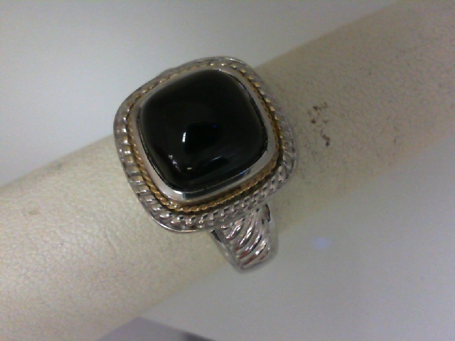 Ring - Black Agate Sterling Silver Ring