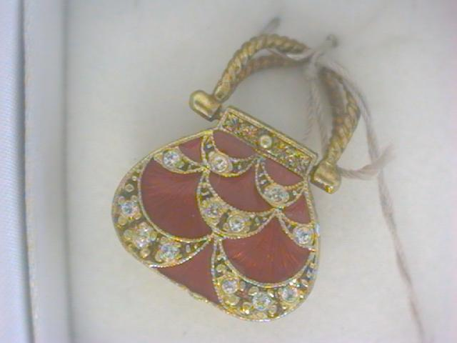 Fine Jewelry - Gold Red Purse w/ 32 stones