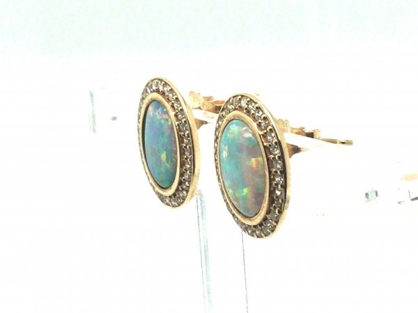 Colored Stone Earrings - Earrings - image #2