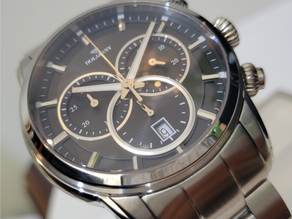 Dolabany Men's Watches - Mens Stainless Steel and Swiss Chronograph watch Style# A9829
