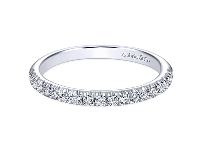 14kt White Gold Diamond Wedding Ring - 14kt white gold diamond wedding ring with .30ct total weight