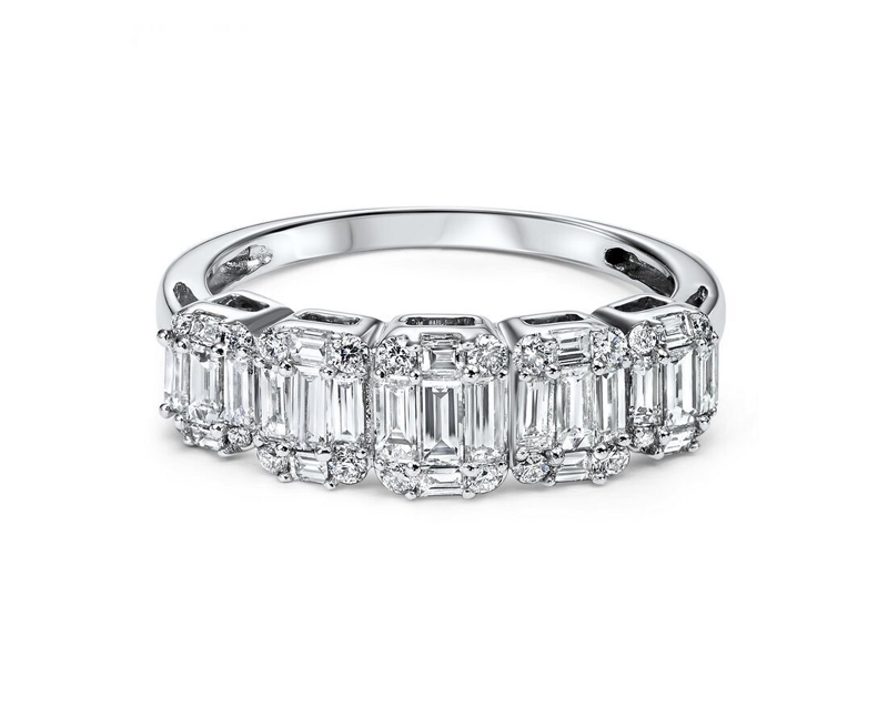 14kt White Gold Diamond Fashion Ring - 14kt white gold diamond ring with 1ct total weight