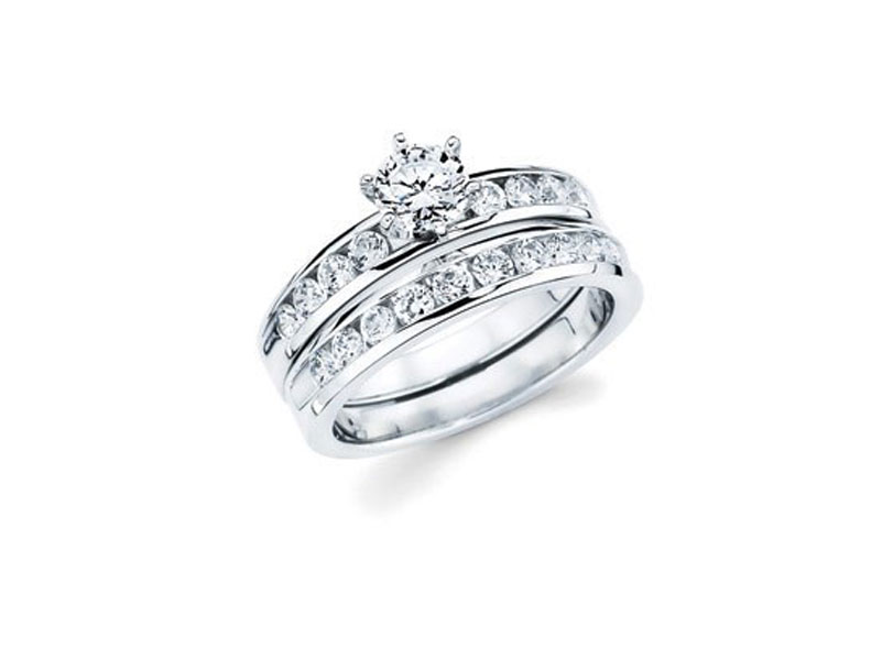 14kt White Gold Diamond Semi-Mount Ring - 14kt white gold diamond semi-mount ring with 1/5ct total weight. This is only for the semi-mount ring. Wedding ring not included.