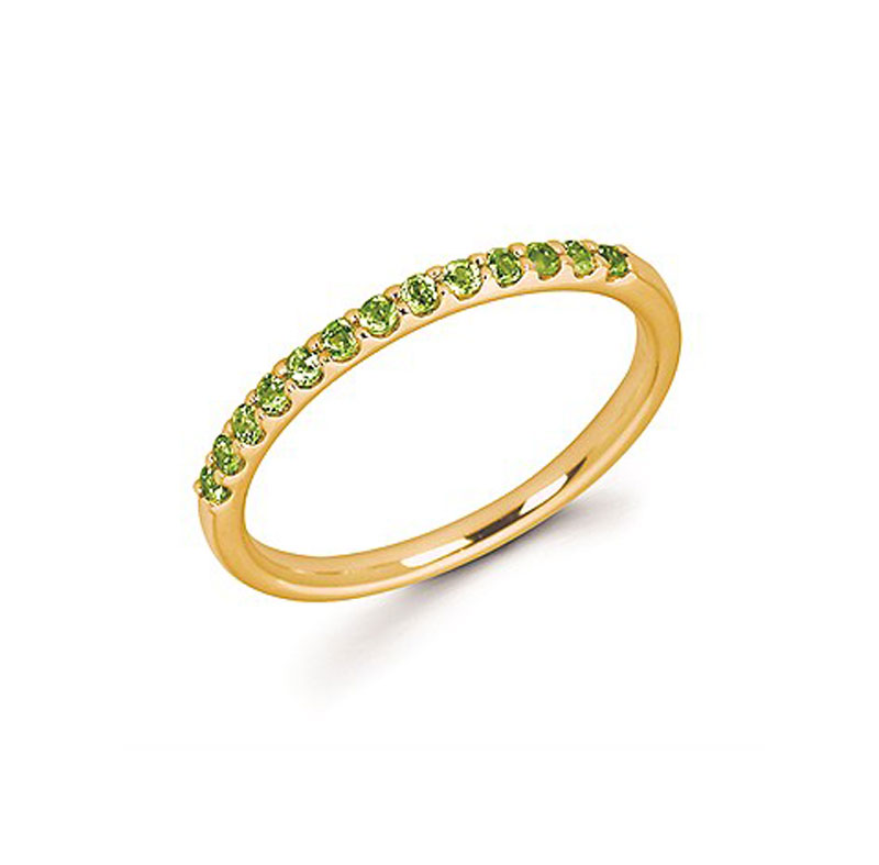 14kt Yellow Gold Peridot Stackable Ring - 14kt yellow gold peridot stackable ring