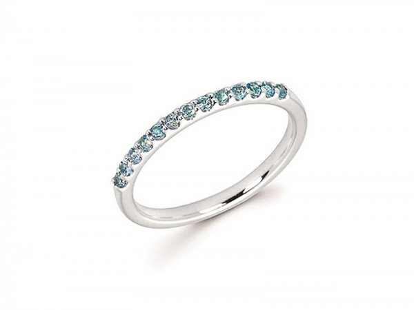 14kt White Gold Blue Topaz Stackable Ring - 14kt white gold blue topaz stackable ring