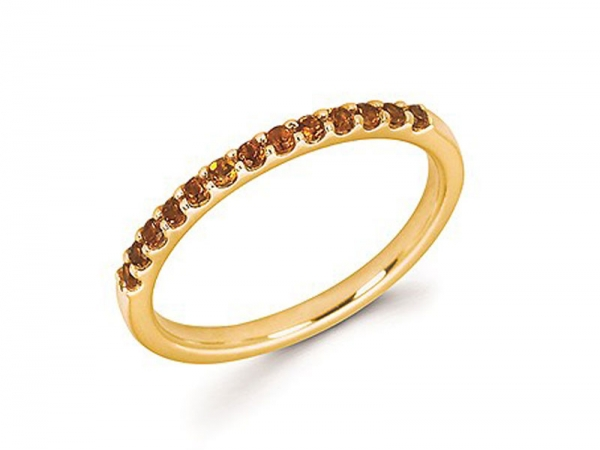 14kt Yellow Gold Citrine Stackable Ring - 14kt yellow gold citrine stackable ring