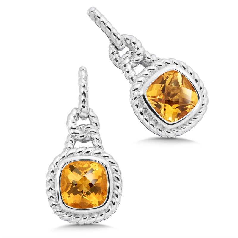 Citrine Earrings - Sterling silver Colore citrine earrings