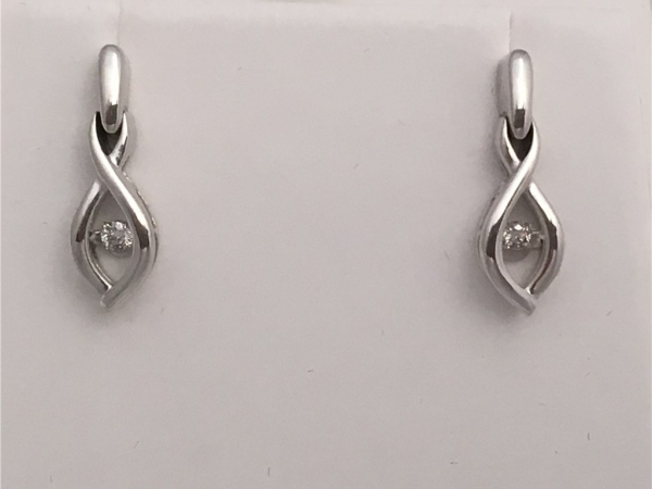 SD15E56 Ostbye Silver Diamond Earrings