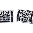Mens Accessories - I.B. GOODMAN 84440CUF8X Gent's Sterling Silver Cuff links With 24=1.90Mm Square Cut Spinels