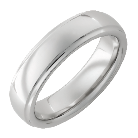 Fine Jewelry - JEWELRY INNOVATIONS: Serinium® Domed Band with Grooved Edge and Polished Finish RMSA001865 Ring Width: 6mm, Finger Size: 5–16, Ring Material: Serinium®, Finishes: Polish, Serinium® is the perfect contemporary metal, built to last a lifetime. Styles are available 5 to 16 in full and half sizes. Bands are comfort fit and hypoallergenic. (also available in 8mm width)