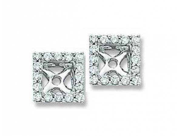 DIAMOND EARRING JACKETS - Lady's Diamond Earring Jackets With 32=0.25Tw Round G/H Si1-Si2 Diamonds