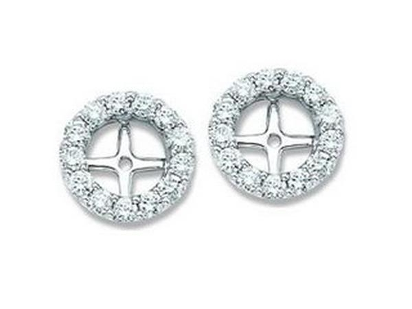 DIAMOND EARRING JACKETS - Lady's Diamond Earring Jackets With 36=0.20Tw Round G/H Si2 Diamonds