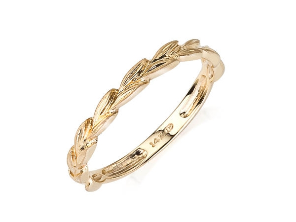Wedding Band - Camelot Bridal 510021741  Lady's 14 Karat Yellow Gold Braided Style Wedding Band Size 7