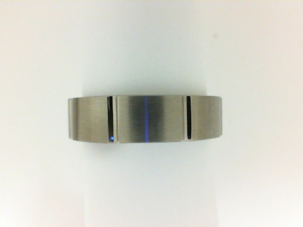 Titanium Ring - Gent's Ridged Titanium Ring Gender: Male Finish: Satin Size: 10