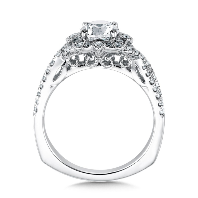 Diamond Engagement Rings - Floral Shape Halo (0.31 ct. tw.) - image 2