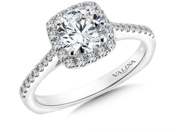 Diamond Engagement Rings - Cushion Shape Halo Mounting (0.31 ct. tw.)