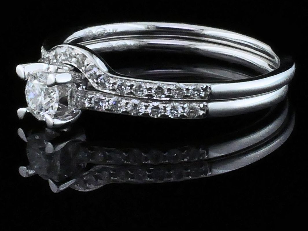 Diamond Engagement Rings - Diamond Wedding Set - image #2