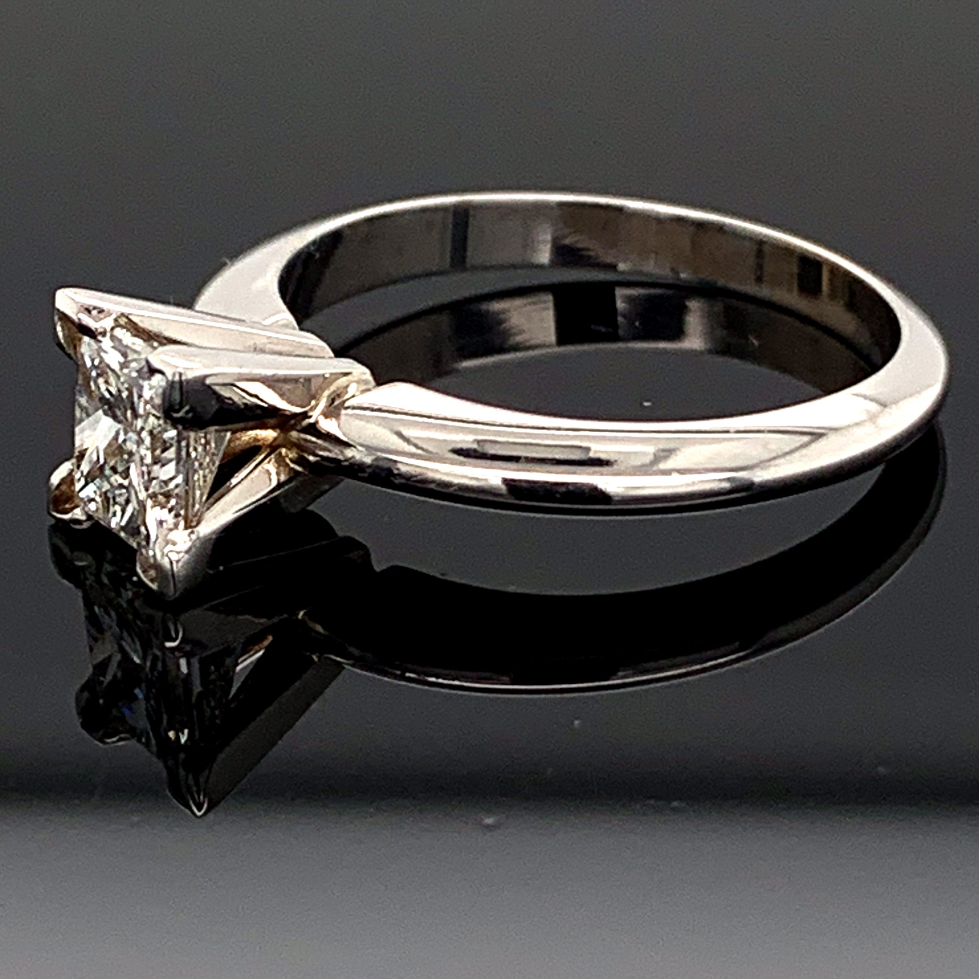 Diamond Engagement Rings - Princess Cut Diamond Solitaire Engagement Ring - image #2