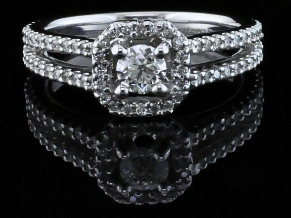 Fine Jewelry - Diamond Halo Engagement Ring