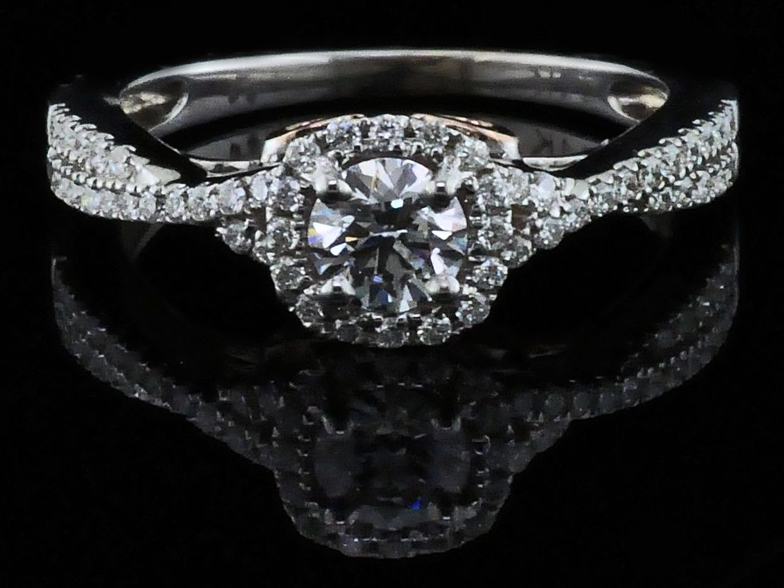 Diamond Engagement Rings - Steal Her Heart Collection Diamond Wedding Set - image #4