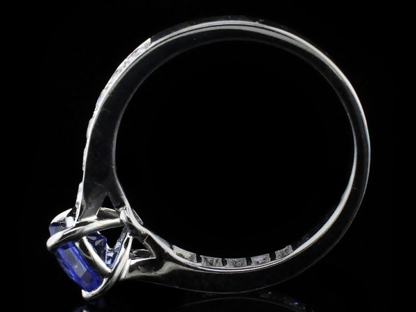 Fine Jewelry - Sapphire and Diamond Engagement Ring - image #3
