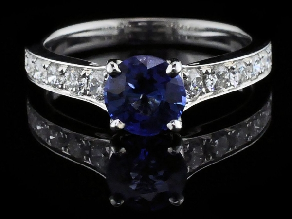 Fine Jewelry - Sapphire and Diamond Engagement Ring