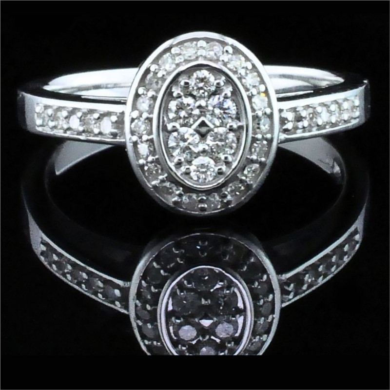 Diamond Engagement Rings - Diamond Wedding Set - image 4