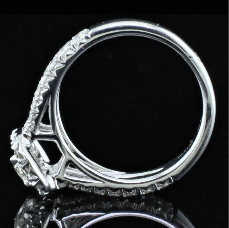 Diamond Engagement Rings - Henry Daussi Diamond Engagement Ring - image #3
