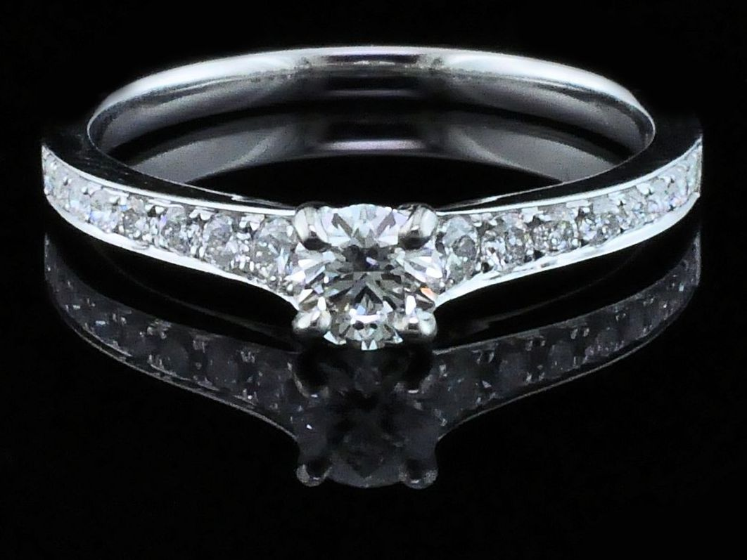 Diamond Engagement Rings - Hearts & Arrows Cut Diamond Engagement Ring