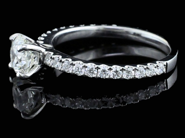 Fine Jewelry - Hearts and Arrows Cut Diamond Engagement Ring - image #2