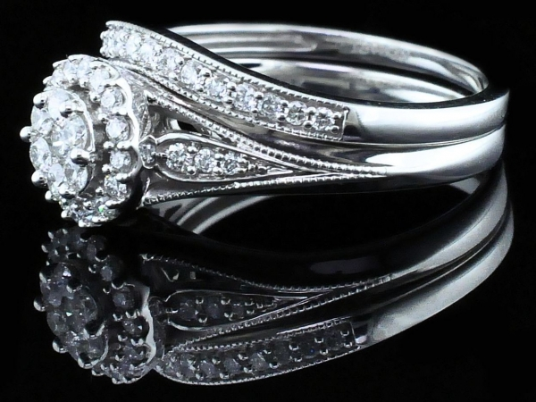 Fine Jewelry - Diamond Wedding Set - image 2