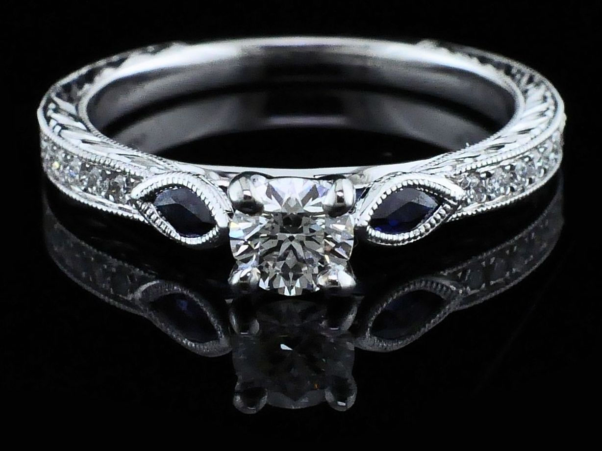 Diamond Engagement Rings - Gabriel Diamond Wedding Set - image #4