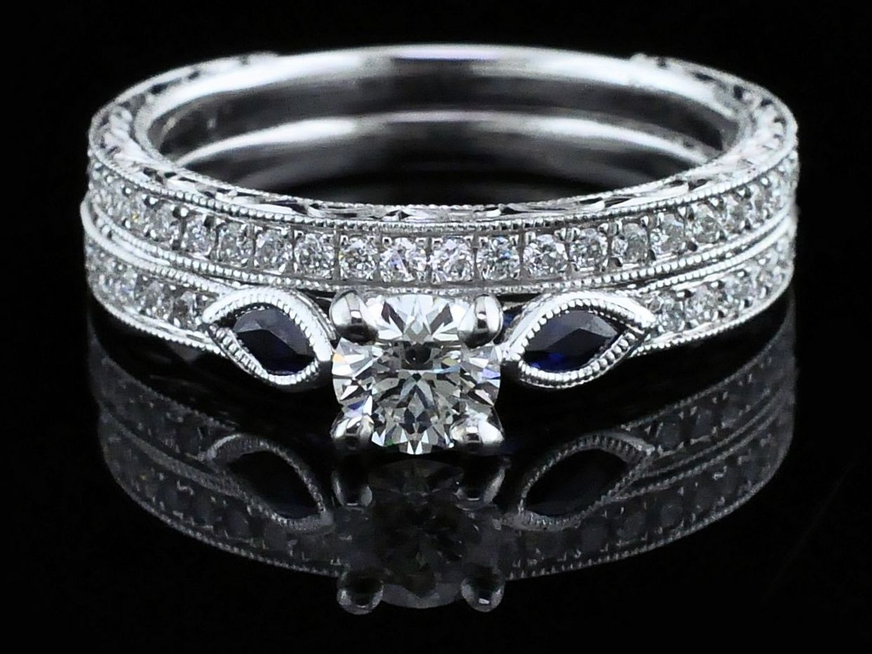 Diamond Engagement Rings - Gabriel Diamond Wedding Set