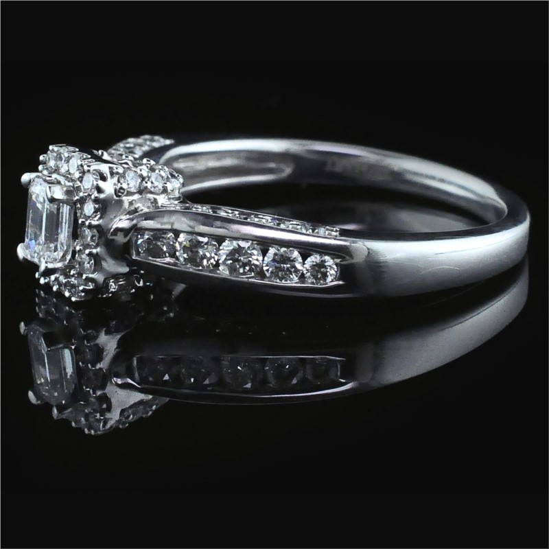 Diamond Engagement Rings - Emerald Cut Diamond Engagement Ring - image #2